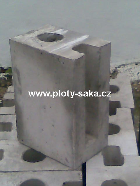 Podhrabová patka - betonová - koncová 250 mm