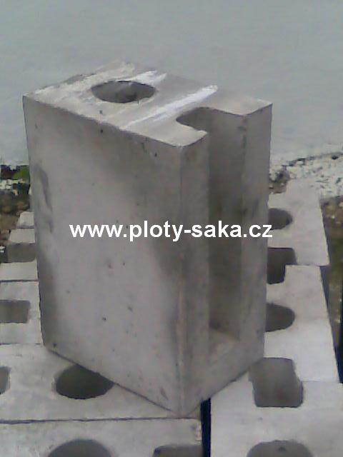 Podhrabová patka - betonová - koncová 300 mm