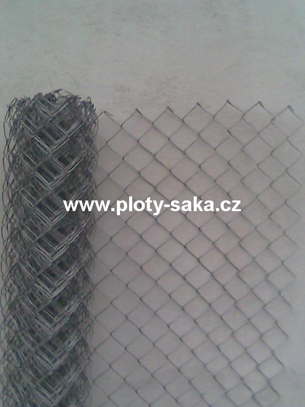 Pozinkované pletivo bez nap. dr. 60x60, 2,5mm, 200 cm