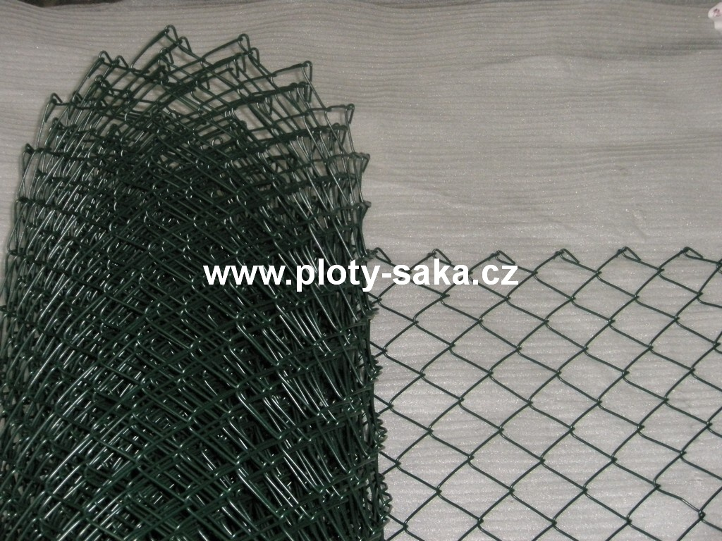 Poplastované pletivo, 80x80 4,0 mm, 125 cm