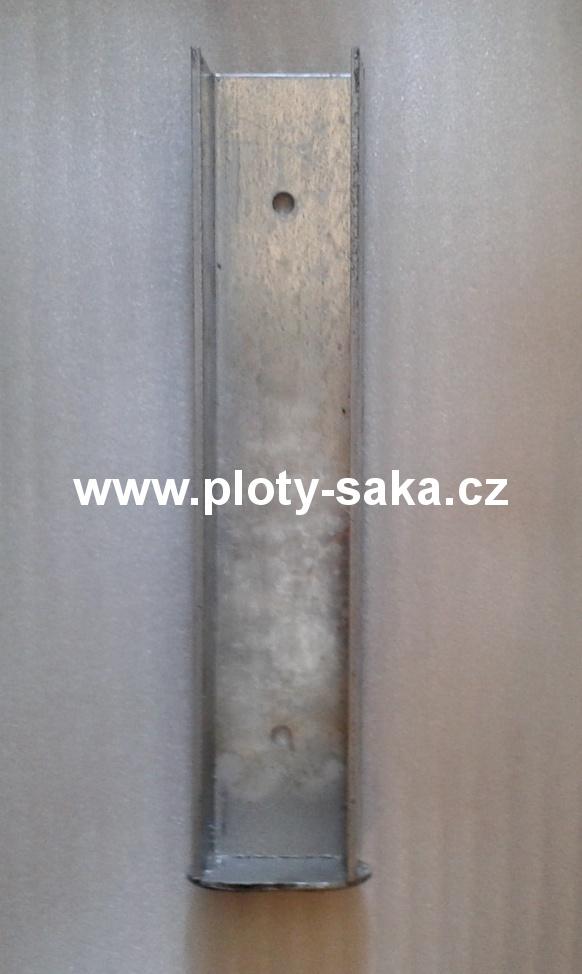 Držák podhrabové desky koncový Zn 200x50 mm