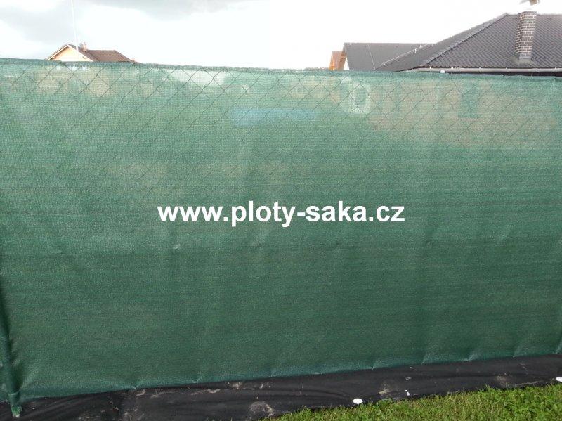 Stínící tkanina KLASIK zelená, 80%, 100cm, 10m balení (Stínovka na plot KLASIK zelená - 80%, 90g/m2, materiál HDPE, odolný proti UV záření, výška 100cm, balení 10m)